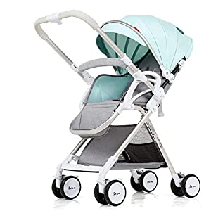 GSDZSY - Lightweight Foldable Baby Stroller Buggy, Adjustable Seat Footstool And Awning,Baby Can Sit Or Lie Flat, 0-3 Years Old,6 Colors,A   2