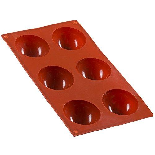 FantasyDay® 6 cavidades moldes de silicona para hielo, tartas, chocolate - 100% alimentarias y sin bpa - Hemisferio