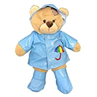 """Blue Raincoat with Boots Teddy Bear Outfit (16"""")"""