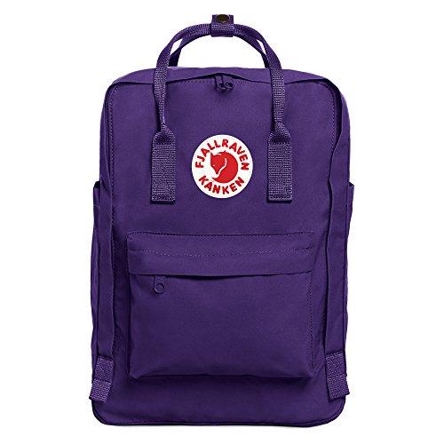 Fjällräven Kånken Laptop Rucksack 15 Zoll, violett (Purple), 40 x 28 x 16 cm, 18 L