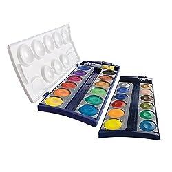 Pelikan 720631 Deckfarbkasten K24, 24 Qualitätsfarben und 1 Tube Deckweiß (7,5 ml), nach DIN 5023
