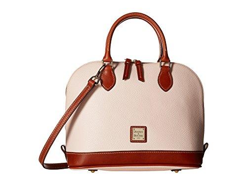 Dooney Frauen Handtasche (Dooney & Bourke Umhängetasche aus Leder mit Reißverschluss, Kieselmuster, Pink (blush), Einheitsgröße)