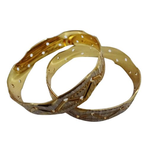 IBA Indianbeautifulart Gold 18K überzog Braut Churi Set indische Armreif 2 * 5-Geschenk für sie