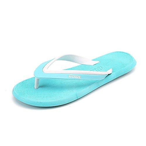 Tongs, sandales dété pour hommes, des salles de bain, tongs, chaussures de plage Sky blue moonlight