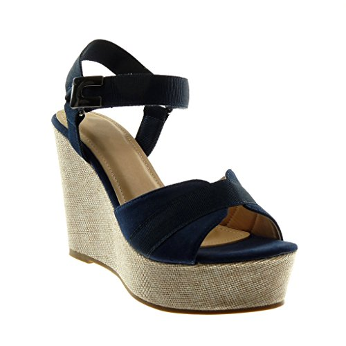 Bimatière Avec Angkorly Chaussures Mules Wedges Sandales Mode Bride 1rfYfqIwW