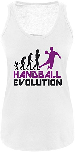 EZYshirt® Handball Evolution Damen Tanktop Weiss/Schwarz/Violett