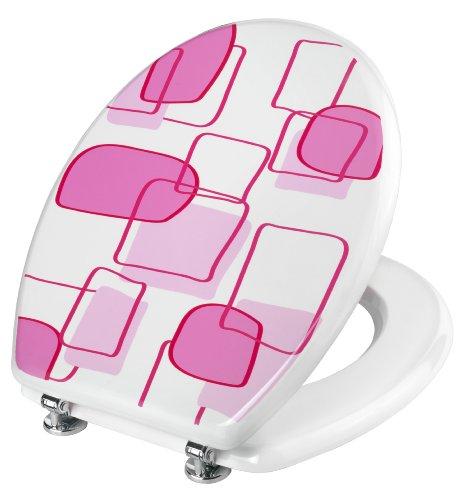 Cornat KSD524 Pink Frame WC-Sitz Dekor, Holzkern (MDF) lackiert, antibakterieller Schutz