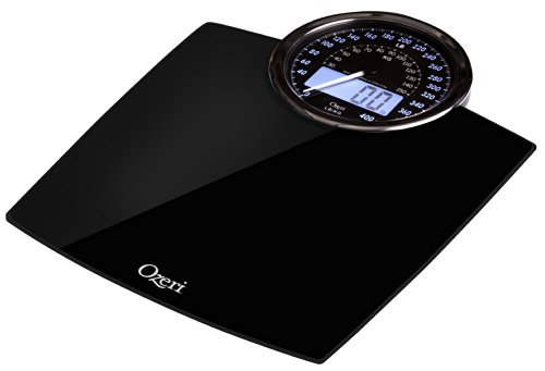 Bilancia digitale da bagno Ozeri Rev con quadrante elettromeccanico (nera) - 4