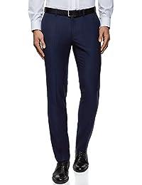 oodji Ultra Uomo Pantaloni Slim Fit con Finitura Decorativa 64c2a365620