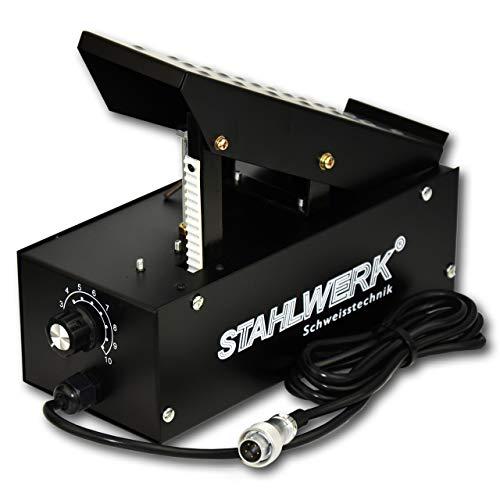 STAHLWERK WIG Fußpedal Fernsteuerung für WIG Schweißgeräte, stufenlose Schweißstrom Regelung, Anschluss 5-polig