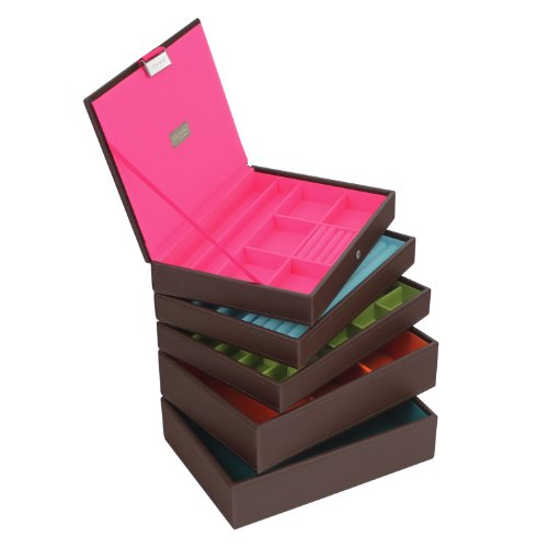 stackers-set-of-5-classic-size-choc-brown-stacker-set-of-5-jewellery-box-with-brights-multi-colour-l