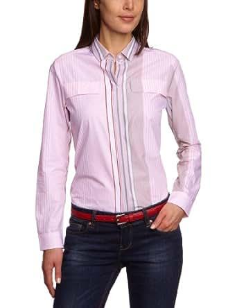 Jacques Britt Damen Bluse, 61.121601 City Bluse 1/1 lang, Gr. 38 (S), Mehrfarbig (42 - rosé bunt Streifen)
