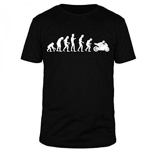 FABTEE Evolution Motorrad Motorbike Race Bike Organic T-Shirt Herren - Größen M-5XL, Größe:M, Farbe:Schwarz