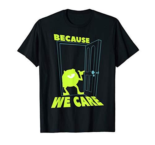 Disney Pixar Monsters Inc. Mike We Care Graphic T-Shirt (Pixar Monsters Inc)