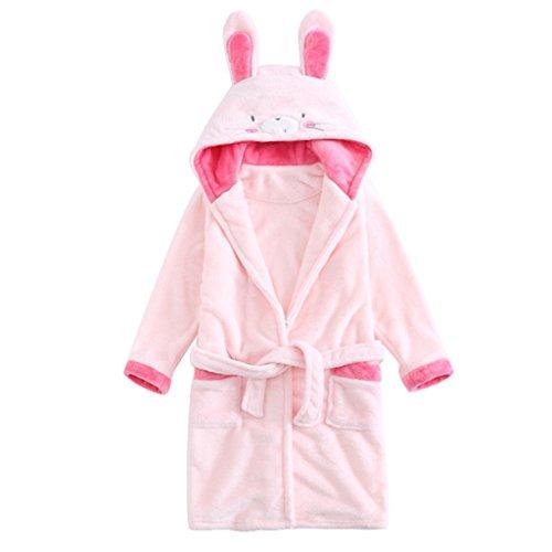 Baby Bademantel Mit Kapuze Jungen Mädchen 3-4 Jahre Nachtwäsche, Ideal für Geschenke (Bademantel Bestickter)