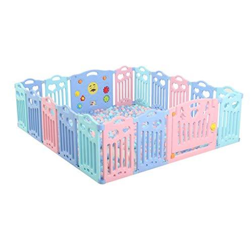 Baby-Laufgitter Sicherheit Spielbetten Indoor-SpielpläTze Umweltfreundliche Hdpe-Skalierbare Mehrfachkombinationen Geeignet FüR 0-6 Baby-18-Panels