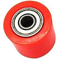 Sharplace Rodillo de Cadena Pieza de Transmisión de Vehículos para CRF YZF KTM RMZ KLX - Rojo