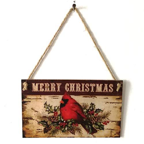 Delicacydex Weihnachtsfest-Dekoration Frohe Feiertage hölzerne Plakette-Wand-Zeichen-hängendes Brett Chritmas-Hausgarten-Bevorzugungs-Geschenke