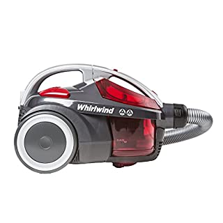Hoover Whirlwind Bagless Cylinder Vacuum Cleaner, [SE71WR01], Grey & Red, 700 W