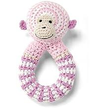 Bellybutton - Sonajero de ganchillo con diseño de mono