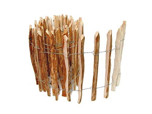 *BooGardi Kastanienzaun in 14 Größen · Staketenzaun Kastanie Natur Roll-Zaun aus Haselnuss · 60 x 500 cm (Lattenabstand 7-9 cm)*