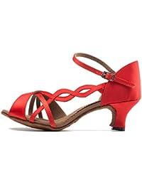 Damen Tanzschuhe, rot - 165 Red - Größe: 40 Meijili