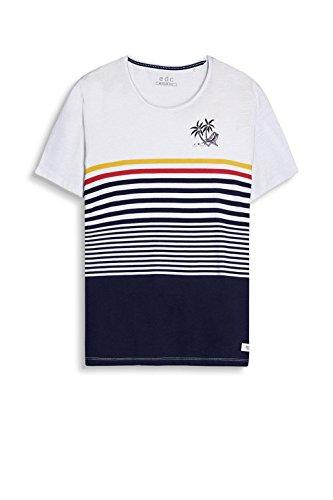 edc by ESPRIT Herren T-Shirt 057cc2k004 Weiß (White 100)