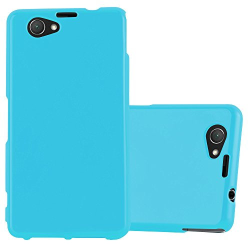 Cadorabo Hülle für Sony Xperia Z1 COMPACT - Hülle in Jelly HELL BLAU - Handyhülle aus TPU Silikon im Jelly Design - Silikonhülle Schutzhülle Ultra Slim Soft Back Cover Case Bumper