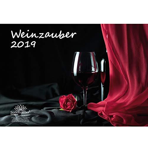 Weinzauber · DIN A3 · Premium Kalender 2019 · Wein · Weingut · Rotwein · Weißwein · Frankreich · Italien · Österreich · Schweiz · Geschenk-Set 1 Grußkarte 1 Weihnachtskarte · Edition Seelenzauber
