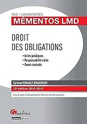 Mémentos LMD - Droit des obligations 2015-2016