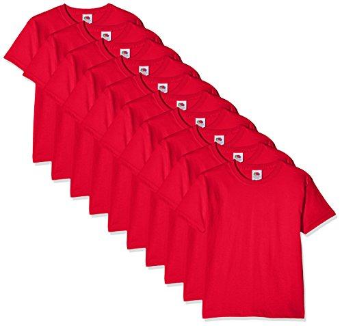 Fruit of the Loom Jungen Regular Fit T-Shirt Kids 10 Pack T-shirt, Rot (Red 41), 5-6 Y (Herstellergröße: 5-6 Y)