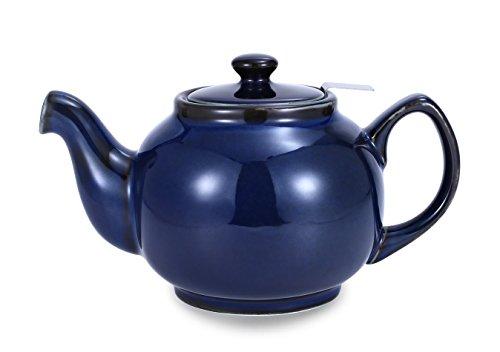 Urban GoCo 'Tetera/Teapot clásico en inglés Forma de cerámica con No de tropfendem marcada Cambridge 1,0l con filtro de té de acero inoxidable