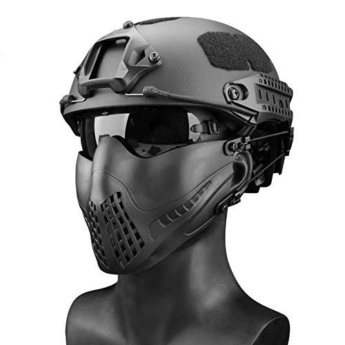 Máscara Máscaras para Exteriores Airsoft Paintball Knight Máscara Equipo de máscara táctica - Negro