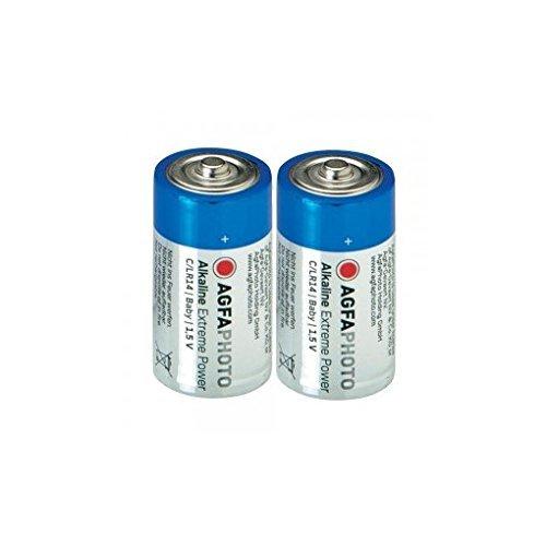 AgfaPhoto Batterie Baby C LR 14 (2 pièces)