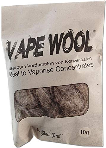 Black Leaf Vape Wool 10g Beutel degummierte Hanffasern + Fight-Button -