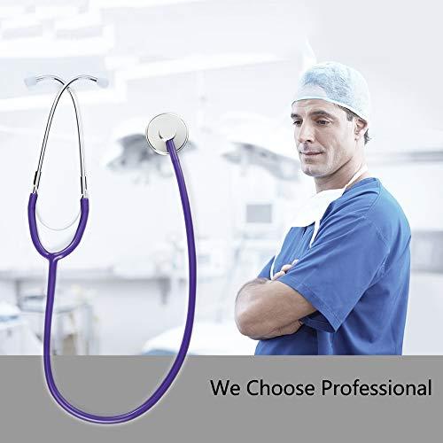 SUN RDPP Stethoskop, Halter für Herzärzte, Krankenschwestern für Kardiologie, Veterinärmedizin, Pädiatrie, Blutdruckmessgerät,Purple
