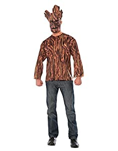 """Groot Costume, Mens Guardians Of The Galaxy Outfit, Standard, CHEST 44"""", WAIST 30 - 34"""", INSEAM 33"""""""