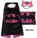 Superhero Cape with free Mask for kids - Party Costume (Bat Girl) by Huffy Sports