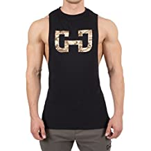 Gymjunky Cutted Tee Tank Black Desert Storm - Training Gym Sport