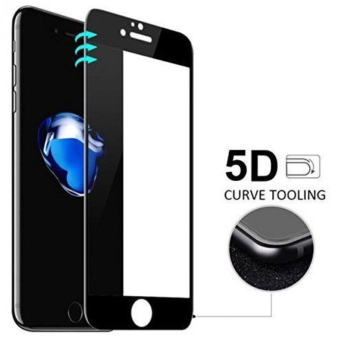 SHOPKART Premium Edge to Edge Tempered Glass Screen Protector for iPhone 6/6s Black 5D