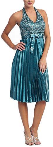 Nachtigall+Lerche Cocktailkleid Paillettenkleid Abendkleid kurz Empirestil Brautmutterkleid festlich...