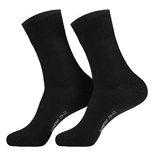 6 Paar Damen Socken schwarz 39-42