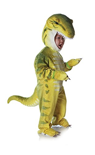 Kostüm Underwraps - Grüner Dino-T-Rex Kostüm Kinder Gr. S / 6-12 Monate / 74cm
