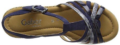 Gabor Gabor Comfort Sandali a Punta Aperta, Donna Blu (66 blue)
