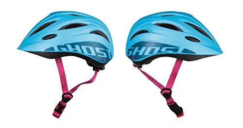 GHOST Kids Helm - in blau/pink - Größe 52-56 cm - Kinder-Fahrradhelm