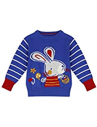 The Essential One - Bebé Infantil Niñas Pullover/Sweater/Sudadera - Azul - EOT549