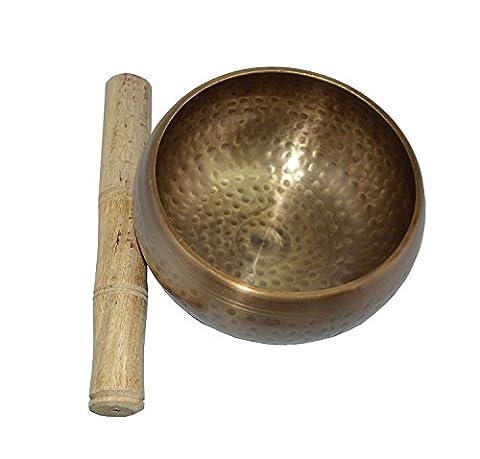 Zap Impex® Belle Nouvelle main martelé en laiton Sound Bol Méditation Tibétaine Yoga Cups 4
