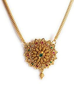 Buy Afj Gold 1 Gram Micro Gold Plated Traditional Designer Fashion Jewellery Dollar Chain For Women Girls Oct Dc 205 At Amazon In