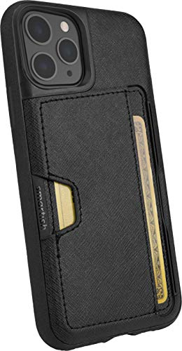 "Silk Smartish Apple iPhone 11 Pro (5.8"") Wallet Hülle - Q Kreditkartentasche [Schlanke Handyhülle mit Kickstand I Grip Cover Bumper] - Wallet Slayer Vol.2 - Black Tie Affair - Q19-BLACK"