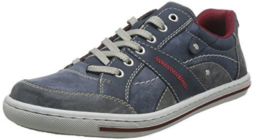 Rieker Herren 19013 Low-top, Blau (rauch/jeans/denim/47), 45 EU Blaue Herren Halbschuhe